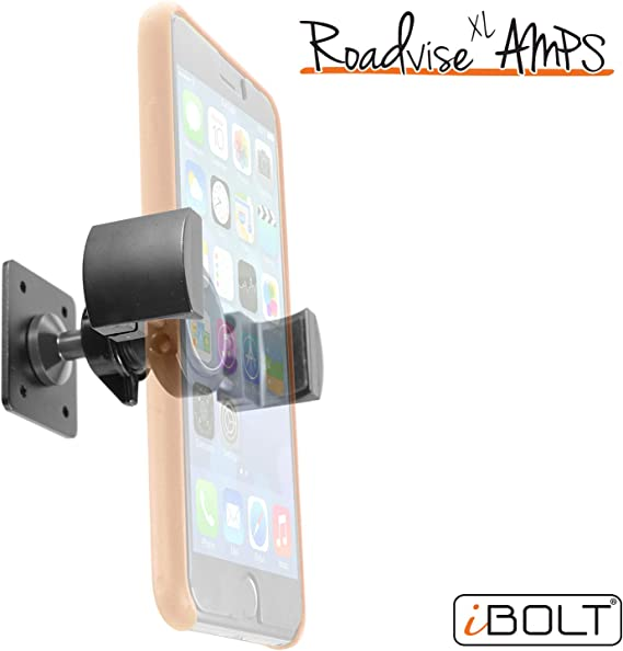 iBOLT Roadvise XL AMPS Heavy Duty Metal Drill Base AMPS Mount for Smartphones