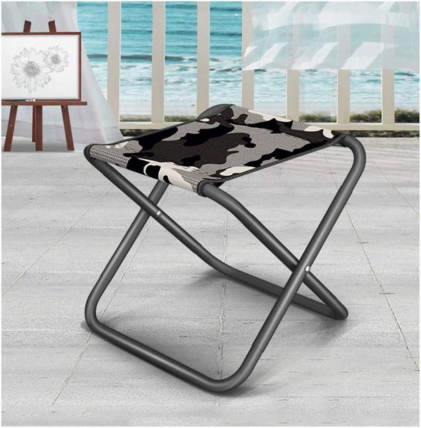 Artist Chair Folding stool ultra light folding stool mini folding stool outdoor folding stool easy to carry folding stool train stool fishing stool HUYP Color : Gray