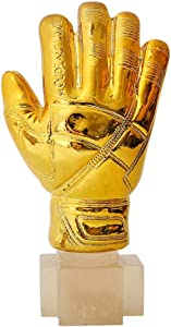 Ygo Goalkeeper Trophy Golden Glove Award Soccer Trophies Model Art Trophies for Collections, Souvenir, Fans, Home Decoration, Gift, Desk Decorations- Resin
