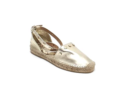 Twin Set - Alpargatas para niña Dorado Dorado 33: Amazon.es: Zapatos y complementos