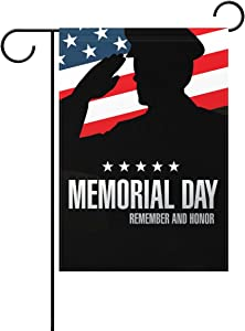 ALAZA U Life Patriotic American 911 Honor Hero Decorative Garden Yard Flag Banner for National Patriot Memorial Rememberance Day Outside House Flower Pot Double Side Print 40 x 28 & 12 x 18 Inch