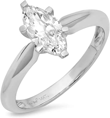 2.0 ct Emerald Cut White Sapphire Wedding Bridal Promise Ring 14k Yellow Gold