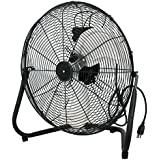 New MTN-G 20 Industrial Grade Aluminum 3 Speed Floor Fan High Velocity w/Tilt Stand Black