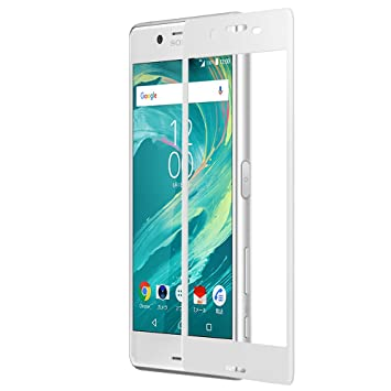 a610681096 Xperia X Performance フィルム ガラス 全面吸着 ガラスフィルム 炭素繊維 3D 全面保護 SO-
