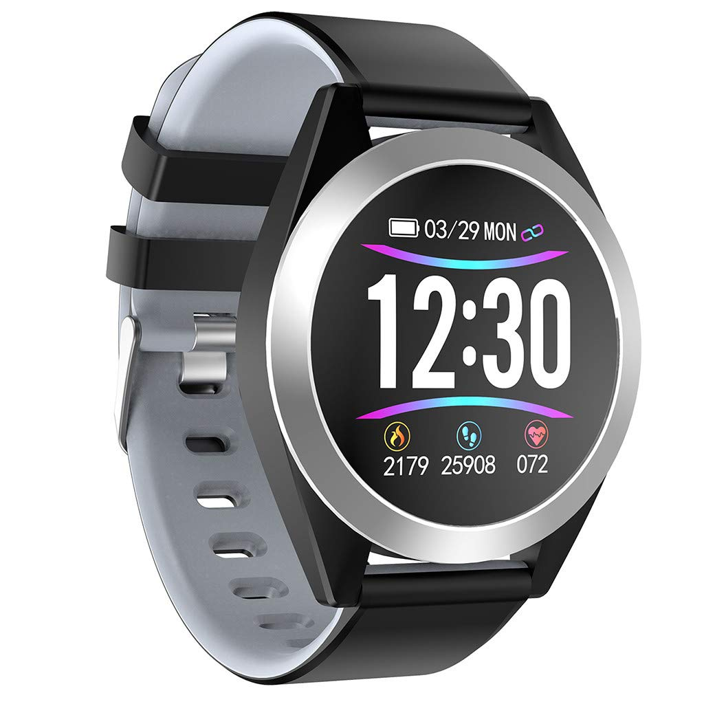 Big Smart Watch Android iOS Sports Fitness Calorie Wristband Wear Smart Watch for Father Men Boys Boyfriend Lover's Birthday