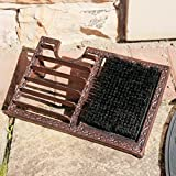 Large Door Step Cast Iron Free Standing Muddy Boot Brush and Scraper W34 x D22 x H10cm by Dibor - French Style Accessories for the Home