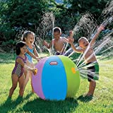 LANCYBABY Inflatable Sprinkler Water Ball Outdoor Fun Toy for Kids Children Hot Summer Swimming Party Beach Pool Play 30 inches