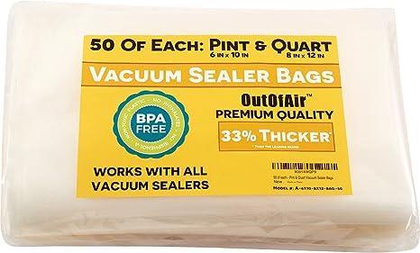 100 Vacuum Sealer Bags: 50 Pint (6