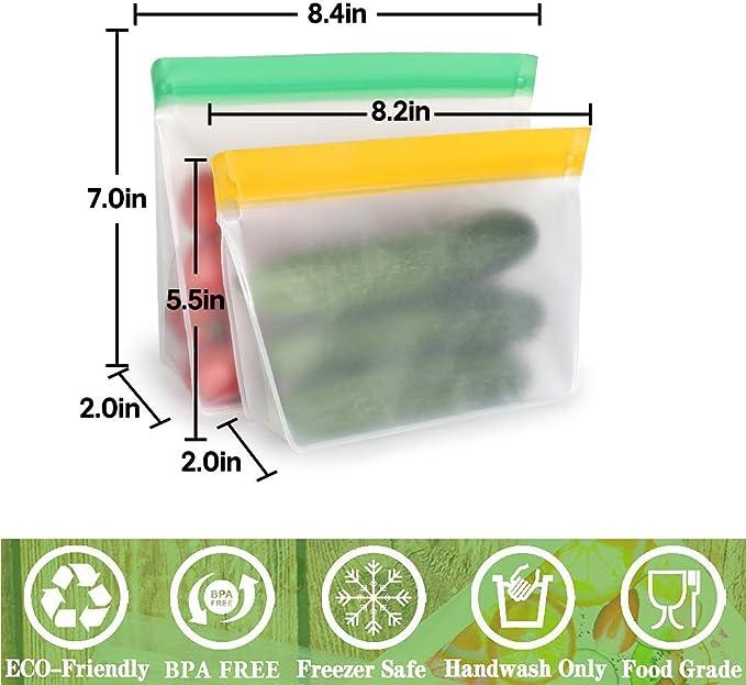 TYRY.HU Bolsas Reutilizables para Almacenamiento de Alimentos PEVA ...