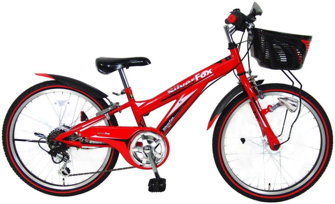 C.Dream(シードリーム) シルバーフォックス SF46-H 24インチ 子供自転車 レッド 100%組立済み発送 B014SIYSIO