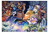 Love Legend Funny Colorful Challenging White Card Puzzle Wooden Jigsaw,1000pc