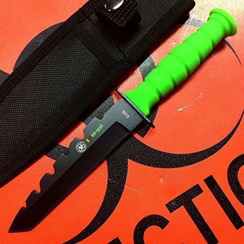 "D.R.S.H.O. 7.5"" Zomb-War Mini Hunting Knife Rambo Green with Sheath"