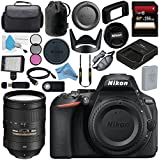 Nikon D5600 DSLR Camera (Body Only) (Black) 1575 AF-S 28-300mm f/3.5-5.6G ED VR Lens 2191 + 256GB SDXC Card + Professional 160 LED Video Light Studio Series Bundle