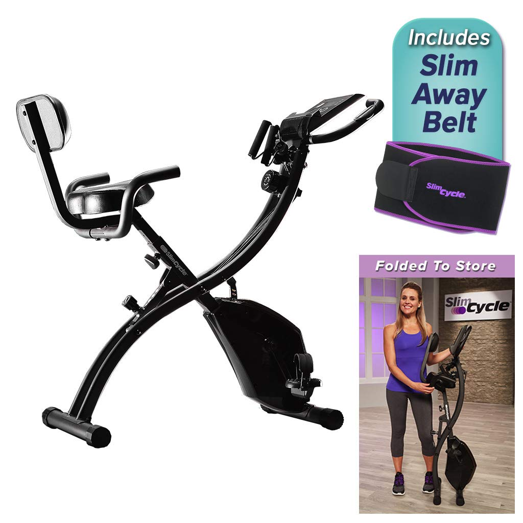 BulbHead Original As Seen On TV Slim Cycle 2-in-1 Stationary Bike Exercise Equipment Transforms from Upright Exercise Bike to Recumbent Bike Perfect for Cardio Training ... (Assembled with Belt) by BulbHead (Image #3)