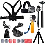 Profilter 13-in-1 Accessories for Gopro,Action Camera Accessory Kit Compatible with GoPro Hero 9 8 Max 7 6 5 4 Black…