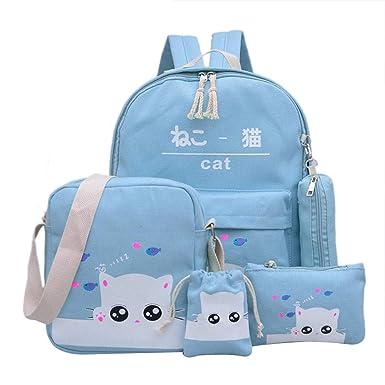 211a2502e85 Amazon.com: Cat Backpacks for teenage girls school bags student ...