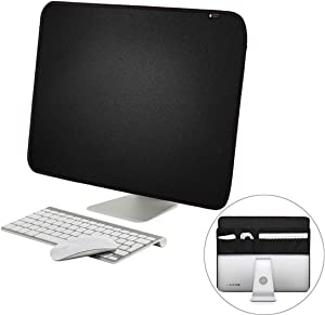 YINZHI Compatible with Mac, for 21 inch Apple iMac Portable Dustproof Cover Desktop Apple Computer LCD Monitor Cover with Storage Bag, Size: 54.5x38.1cm(Black) (Color : Black)