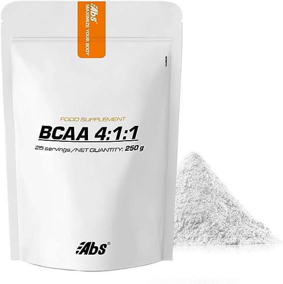 BCAA 4: 1: 1 EN POLVO * 25 raciones / BCAA 4: 1: 1 en polvo 250 g * Crecimiento muscular (anabolismo), fuerza, recuperación muscular * Garantía de ...
