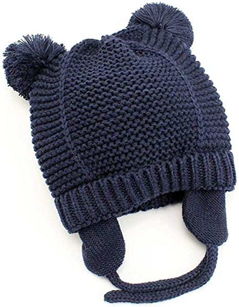 Gorro de Bebé Invierno, laamei Sombrero de Punto Algodón con ...