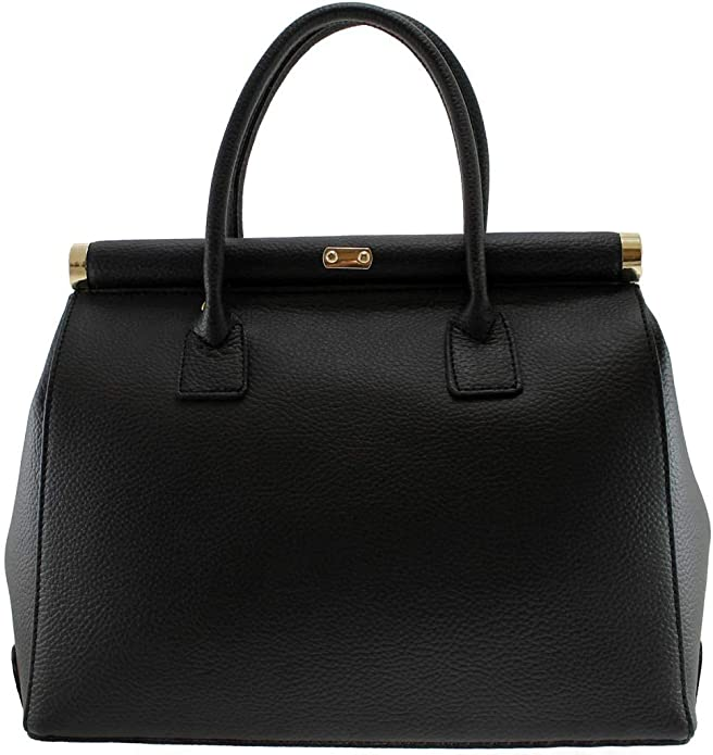 OH MY BAG Sac /à main en cuir TROCADERO Cuir grain/é Noir Sac port/é main et bandouli/ère