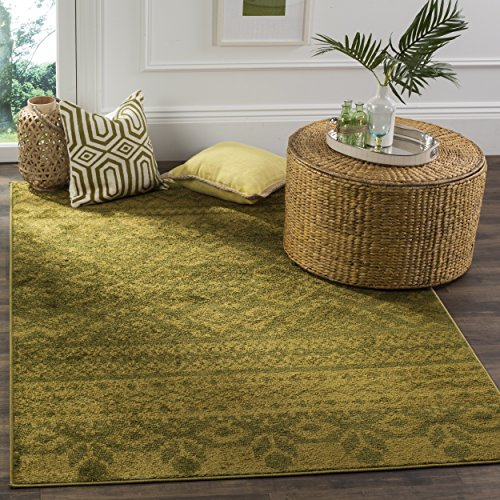 (Safavieh Adirondack Collection ADR107D Green and Dark Green Rustic Bohemian Area Rug (6' x 9'))