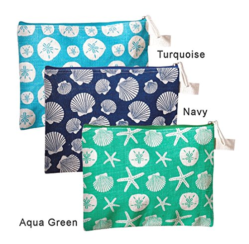 seashell-alissa-colorful-coastal-jute-burlap-travel-pouch-12-in-starfish-sand-dollars-aqua-green