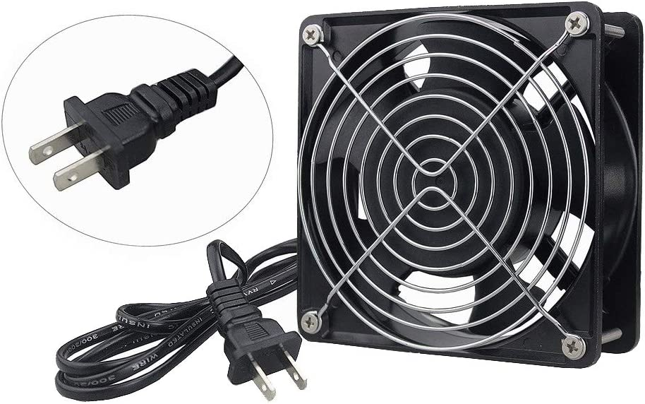 Wathai AC 12038 120mm x 38mm 110V 120V Dual Ball Cooling Axial Fan High Airflow