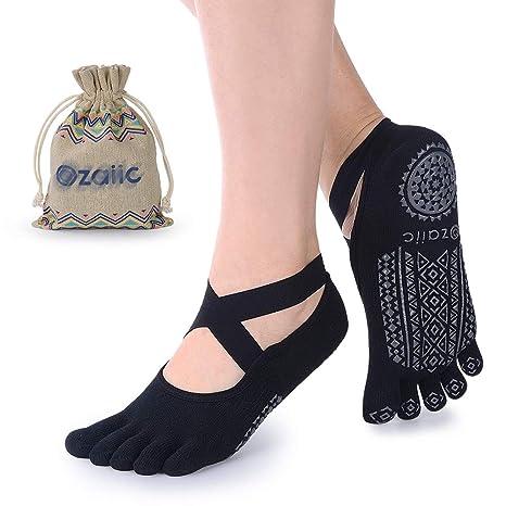 Ozaiic Calcetines Yoga Pilates Antideslizante Deporte Mujeres Pueden Utilizar para Yoga, Pilates y Fitness,