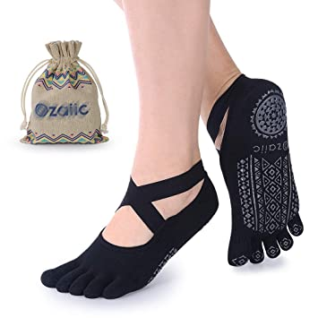 Ozaiic Calcetines Yoga Pilates Antideslizante Deporte Mujeres Pueden Utilizar para Yoga, Pilates y Fitness, Medium: Amazon.es: Deportes y aire libre