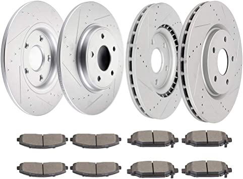 OE Replacement Rotors Metallic Pads F Desc. 15 16 Fit Chrysler Town/&Country
