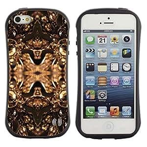 "Pulsar iFace Series Tpu silicona Carcasa Funda Case para Apple iPhone SE / iPhone 5 / iPhone 5S , Cobre Bling de oro Joyas Brillantes Diseño"""