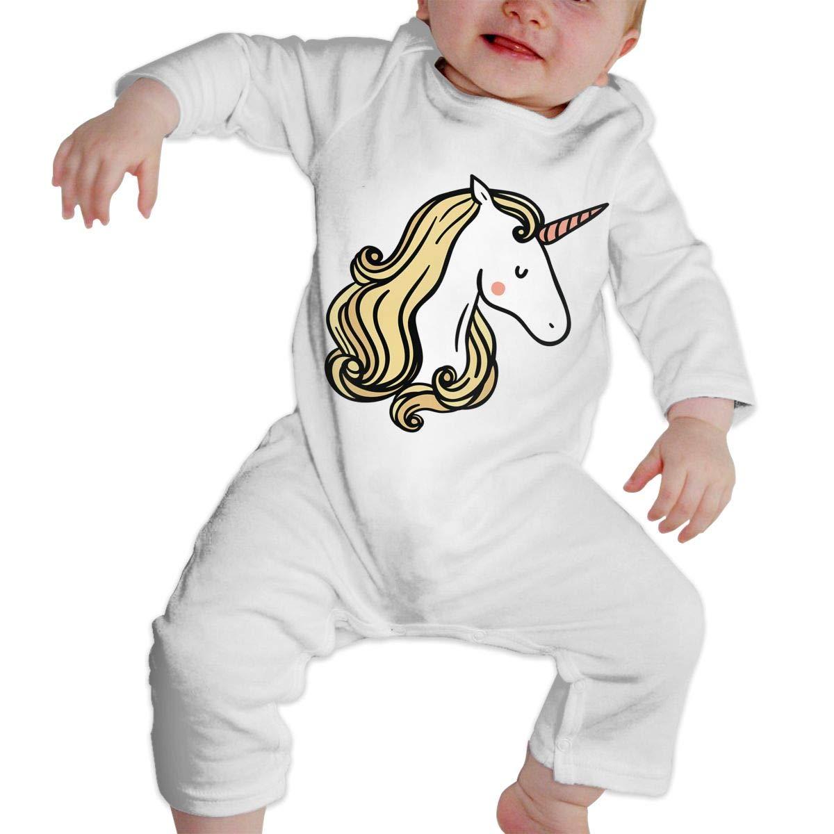 KAYERDELLE Girl Unicorn Long-Sleeve Unisex Baby Bodysuits for 6-24 Months Boys /& Girls