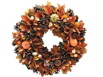 Unbekannt Kranz Wandkranz Turkranz Herbst Orange Braun Kurbis