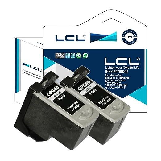 2 opinioni per LCL(TM) PG40 (2-Pack,Nero) Cartucce d'inchiostro Rigenerate per Canon PIXMA