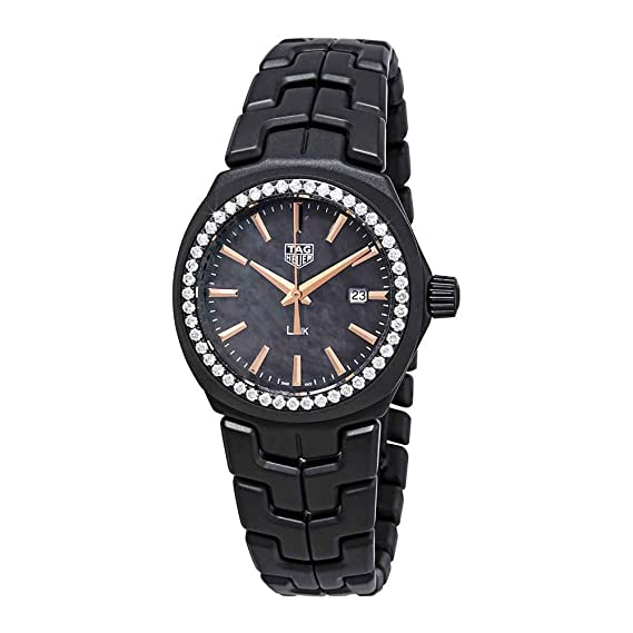 836893d9ceb Tag Heuer Link Black Mother of Pearl Diamond Dial Ladies Watch  WBC1391.BH0745  Amazon.ca  Watches