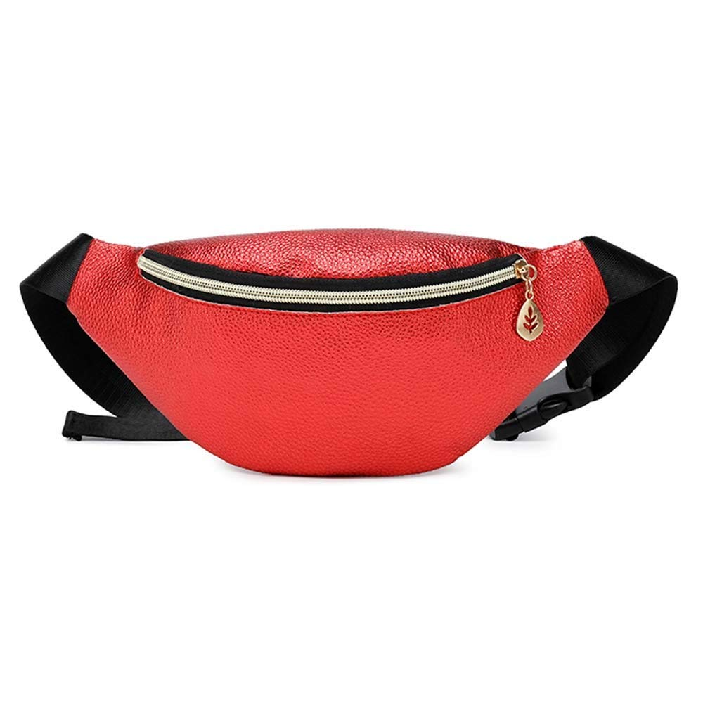 Women Casual Sports Purse Canvas Messenger Bag,Outsta Fanny Pack Hiking Waist Belt Zip Pouch Travel Back Pack Stylish (Red)