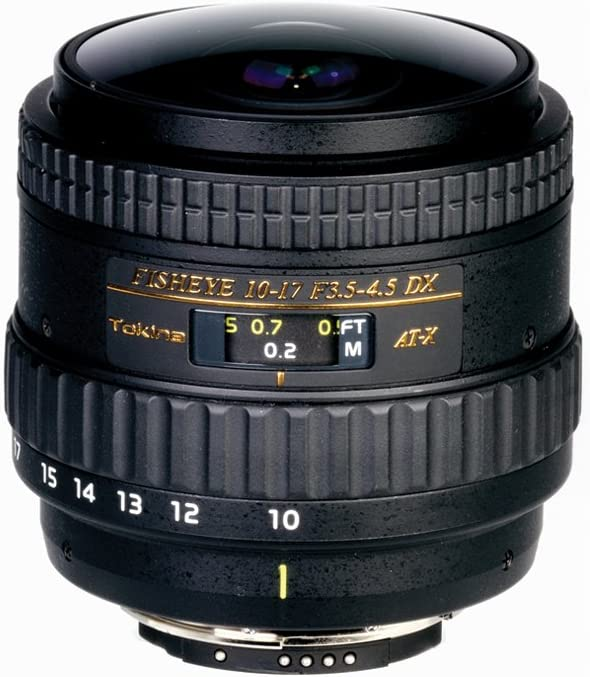 Tokina 10-17 mm F:3.5 - 4.5 AT-X AF DX NH Fisheye: Amazon.es ...