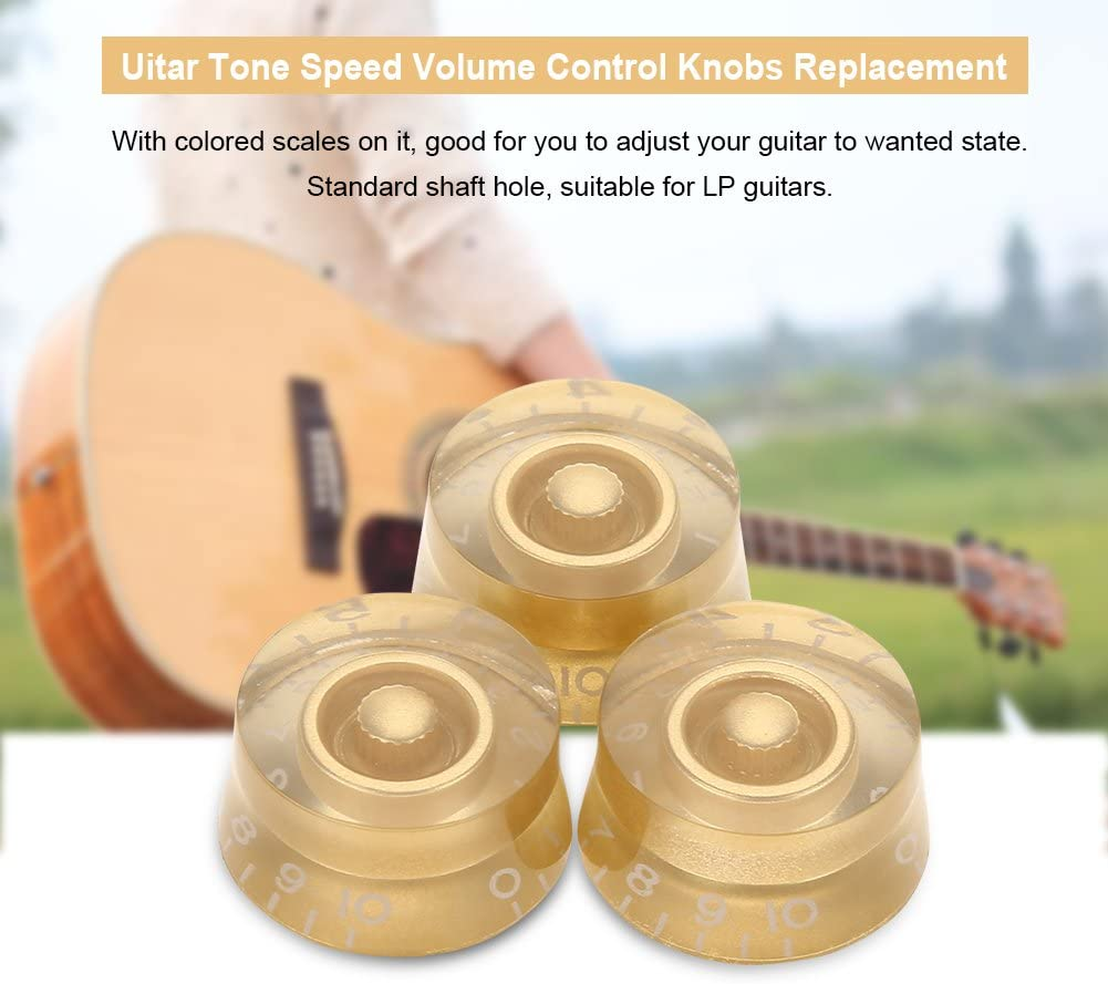 Dilwe 4Pcs Perillas de Control de Volumen de Velocidad del Tono de Guitarra Accesorio de Reemplazo para Les Paul LP Guitarra El/éctrica