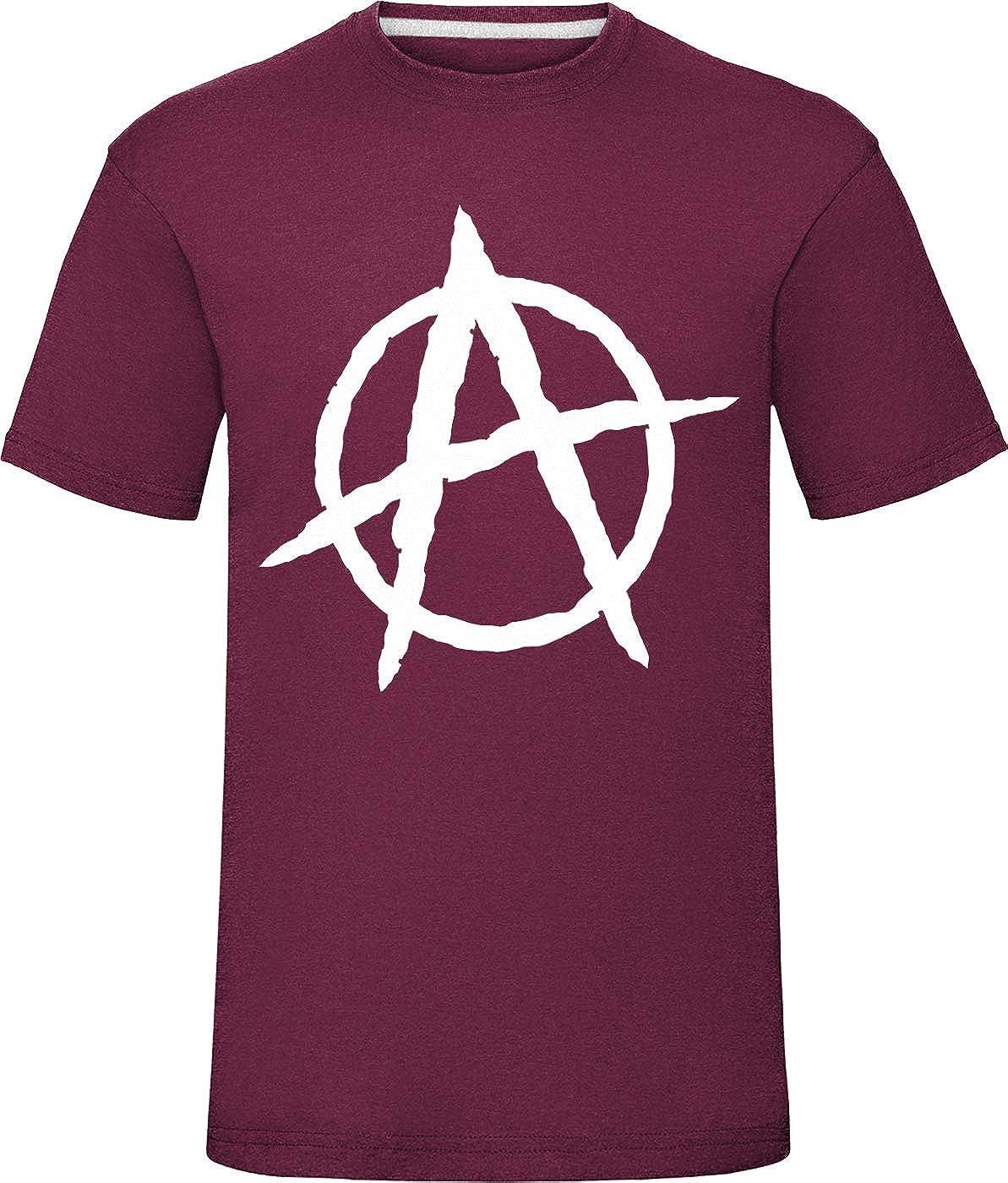laylawson Hommes Anarchie A Symbole T-Shirt