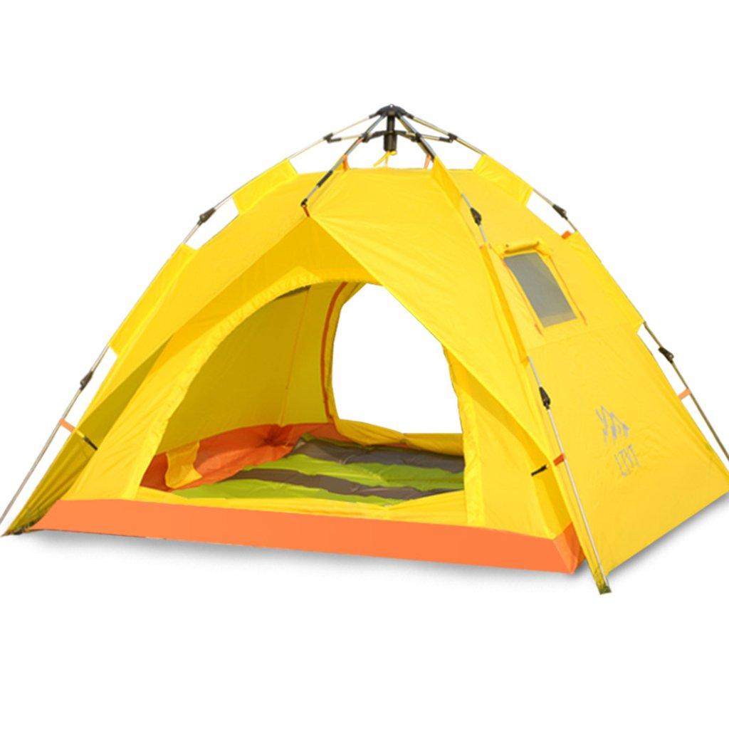 DFHHG@ Zelt, Outdoor-Familie ausgestattet regendicht Camping Double Edelstahl automatische Geschwindigkeit offenen Zelt 210  130cm