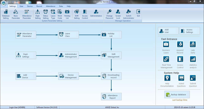 ANVIZ M5/Control Acceso biom/étrico y RFID IP65/para Exterior Negro