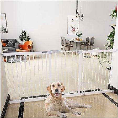 Barreras de puerta Valla Seguridad Infantil Valla para mascotas Puertas De Seguridad Para Bebés Para La Parte Superior De Las Escaleras Parte Inferior De Las Escaleras Cerrado Automático Mascota Perro: Amazon.es: Hogar