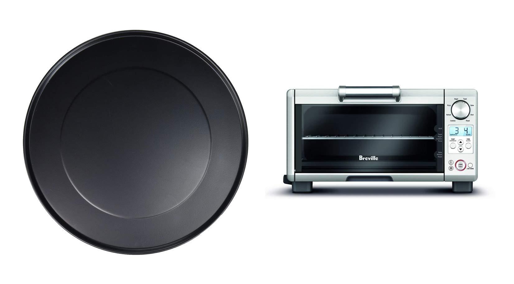 Breville the Mini Smart Oven BOV450XL with 11-inch Non-Stick Pizza Pan, Bundle
