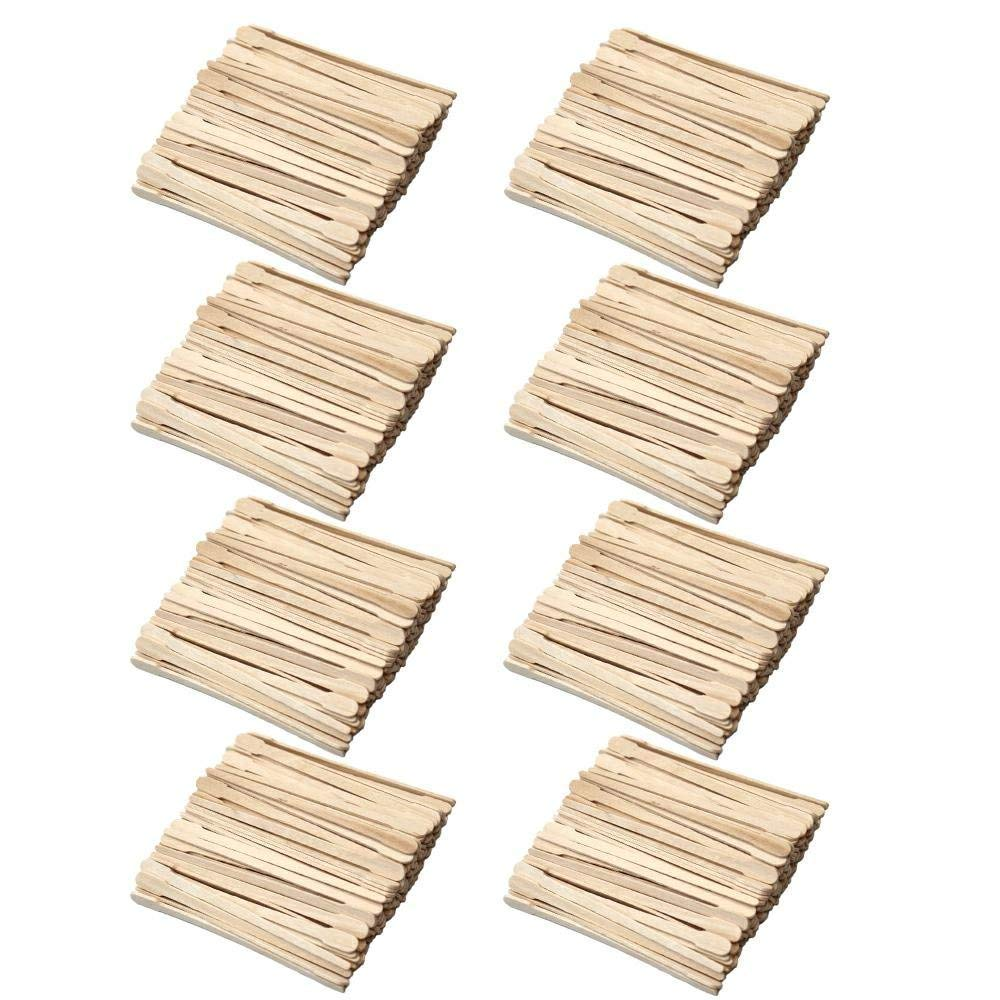 800 Pieces Wood Wax Applicator Sticks Wax Spatulas Small Wood Spatulas Applicator for Hair Eyebrow Removal, 2 Style Md trade