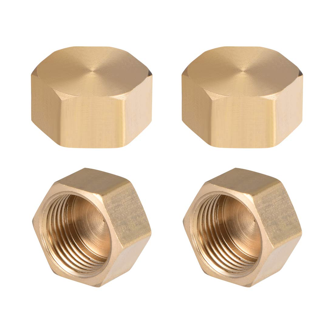 raccord de tuyau hexagonal 2,5 cm 1//8 1//4 1//2 3//4 G femelle Sourcing map Capuchon en laiton