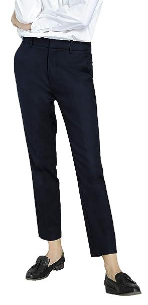 ae25f33b4 Marycrafts Women's Work Ankle Dress Pants Trousers Slacks XS Dark Blue 1