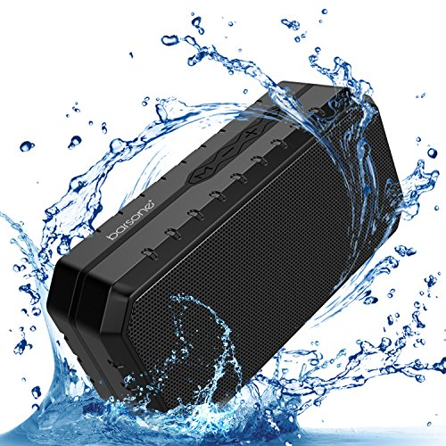 Portable Outdoor Bluetooth Speaker,Barsone IPX5 Waterproof Built-in Microphone Wired & Wireless Mini Speakers,Support TF Card Slot/U Disk