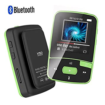 Black CFZC 8GB MP3 Player 70 Hours Playback Lossless Sound Music Player With FM Radio Expandable to 64GB