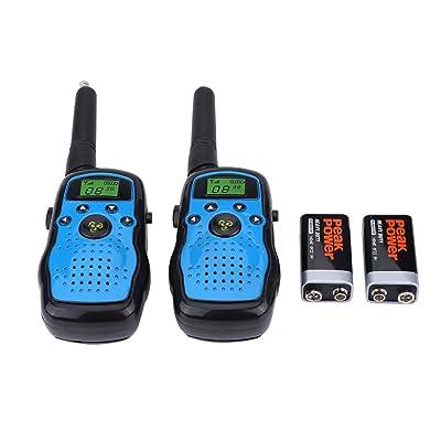 Vbestlife 2pcs Niños Walkie Talkie Portátiles Niños Intercomunicación de Dos Vías de Radio Regalo de Juguete al Aire Libre: Electrónica