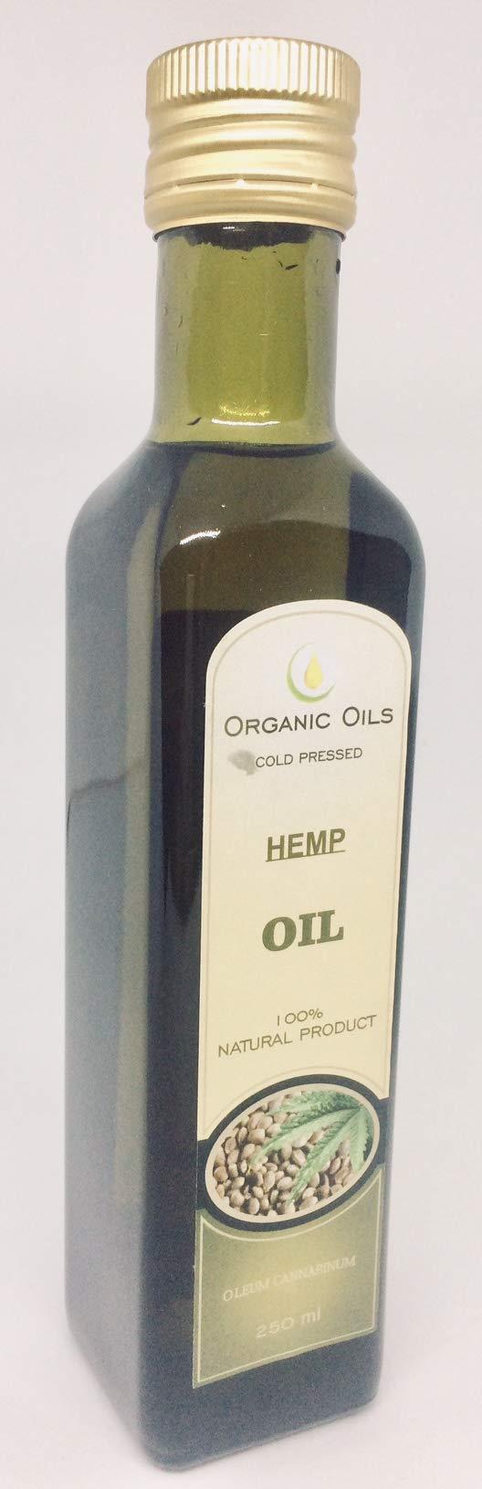 Extra Virgin Hemp Seed Oil 9 fl oz/250 ml Organic Cold Pressed Unrefined Raw No GMO